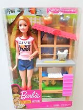 New CHICKEN FARMER BARBIE DOLL CAREERS PLAYSET & Accessories  Play Set by Mattel
