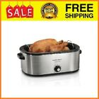 22 Quart Roaster Oven, Fits 28 lb Turkey, Stainless Steel photo