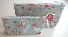 SMALL only Make Up Bag made with Cath Kidston Spray Blue Oil Cloth