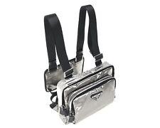 Prada Harness Bum Bag Marsupio Silver New