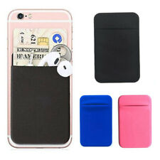 For Cell Phone Solid Pocket Adhesive Headset Card Holder Case Pouch Sticker Soft