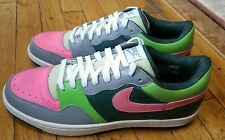 New listing Nike Court Force Low Crocodile Size 11 Forest Green/Pink/Grey/Lime