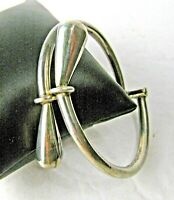 Vintage Taxco Mexico Silver Hinged Bangle Bracelet 925 Sterling
