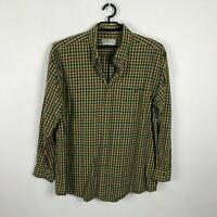 Men's Orvis Multicolor Plaid Shirt Size XL Thick Cotton Long Sleeve Button Up