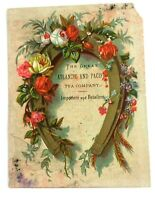 The Great Atlantic and Pacific Tea Company Victorian Trade Card Branch House Ads