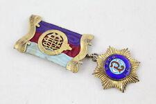 Vintage Hallmarked 1945 London STERLING SILVER Masonic / RAOB Medal / Jewel 41g