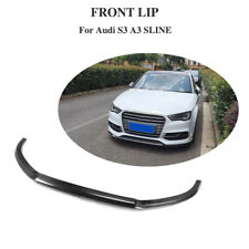For Audi A3 Sline S3 Sedan Front Bumper Lip Chin Spoiler Carbon 13-16 Customized