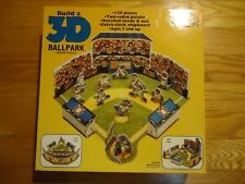 NEW SEALED  1994 Build A 3-D Ballpark 120 Pieces Jigsaw Puzzle