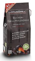 LotusGrill 1kg Buchenholzkohle Kohle für den raucharmen Holzkohlegrill Grill