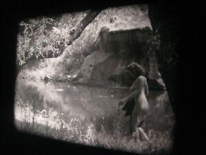 1950s Vintage 16mm film .. model ,  ....   ' Cave, Outdoors '