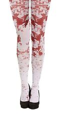 WHITE BLOOD STAINED STOCKINGS TIGHTS ZOMBIE NURSE SCHOOL HALLOWEEN FANCY DRESS