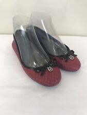 MICHAEL Michael Kors Melody Quilted Ballet Red Black Leather Size 5.5