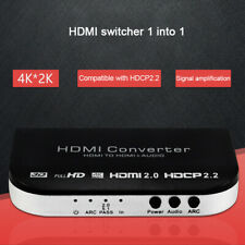 New HDMI To HDMI 1X1 Switch With Audio Extractor ARC 4K 3D 5.1CH 2CH Converter