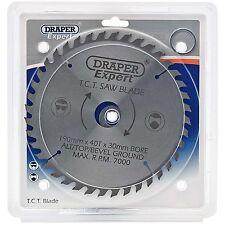 Draper Expert Circular Saw Blade 190mm 30mm Bore 40 Teeth 16mm 20mm Rings