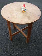 Antique Ambrose Heal oak occasional / lamp / coffee table, early 20th c,