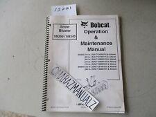 Cr 2004 Bobcat Snowblower Snow Blower Sb200 Sb240 Operation Amp Maintenance Manual