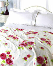 Unbranded Fleece Floral Decorative Throws