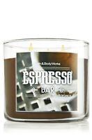 BATH & BODY WORKS ESPRESSO BAR 3-WICK CANDLE 14.5 oz NEW! ITALY