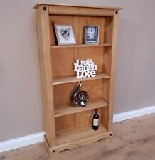 Corona Medium Bookcase 3 Shelf Mexican Solid Pine by Mercers Furniture®