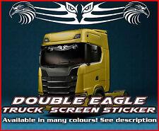 Pantalla de Viento Doble Águila Camión Camión Pegatina de cristal de la ventana de cabina ambiente MAN DAF Scania