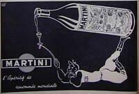 PUBLICITÉ DE PRESSE 1953 APÉRITIF MARTINI - D'APRÈS CLAUDE LEPAPE - ADVERTISING