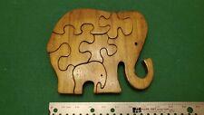 Elephant Parent & Baby 7 Piece Wood Jigsaw Puzzle