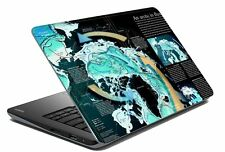 """Map Laptop Skin Notebook Skin Sticker Cover Art Decal Fits 14.1"""" to 15.6""""8d"""