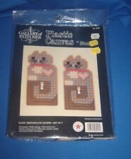 Gallery Stitches Plastic Canvas Cats Switch Plate Cover