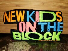 """Vintage New Kids On The Block Nkotb Patch Embroidered Rare! Neon Spell Out 5""""x3"""""""