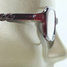 Reading Glasses Edgy Twisted Rope Side Chunky Wine Frame Readers +2.50 strength