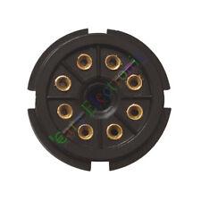 10pc 8Pin Gold Bakelite Tube Socket Plug Base Testing for EL34 6SN7 KT88 6L6 amp