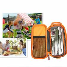 Besteck Aufbewahrungstasche Polyester Bestecktasche für Outdoor Camping Wandern