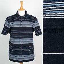 MENS CALVIN KLEIN POLO T-SHIRT SHIRT SOFT JERSEY COTTON STRIPED PATTERN CASUAL M
