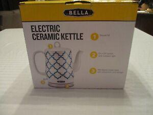 Bella Electric 1.2L Ceramic Kettle -  Aqua Tile Pattern Electric Heat