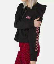 Vans Women's Half Blast Black/Mauve Crop Zip Hoodie (VN0A4QG5BLK) Size XL