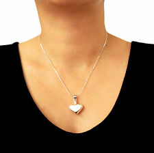 Love Heart 925 Sterling Silver Perfume Bottle Chain Necklace