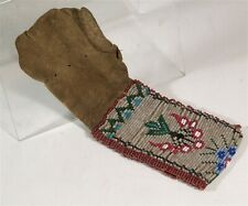 ca1900 Native American Ojibwa Anishinaabe Indian Beaded Hide Tobacco Bag Childs