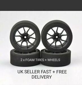 1/10 12mm Hex RC Foam Tires & Wheels X2 Glued Contact Wltoys ZD Parts.