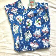 New Mens Large Rudolph Reindeer Abominable Snowman Sleep Pants Pj Bottoms