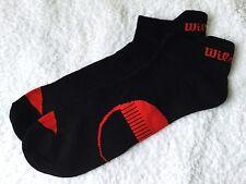 Entrenador De Espalda Ficha De Calidad Para Hombre Wilson Calcetines Negro Rojo Soporte para el arco Transpirable