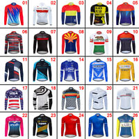 2021 Mens Cycling Long Sleeve Jersey Breathable Maillot Bike Tops Clothing Shirt