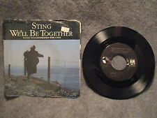 "45 RPM 7"" Record Sting We'll Be Together & Conversation With A Dog 1987 AM-2983"