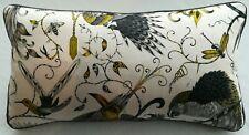 Emma J Shipley AUDUBON GOLD cushion FREE FEATHER PAD piped, 55cm x 30cm (#2)