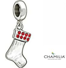 Genuine Chamilia silver 925 Christmas stocking 2025-1015 bracelet charm in box