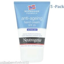 5 x Neutrogena Norwegian Formula Anti Ageing Hand Cream SPF25 50ML