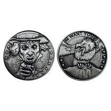 """Norse Foundry RPG D20 Adventure Coins """"100"""" Silver Piece Set of 10 - Zombie Dead"""