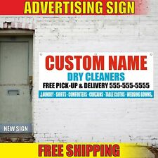 Dry Cleaners Banner Advertising Vinyl Sign Flag Laundry Service Expert Delivery