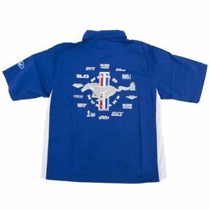 Mustang Multi-Logo Pit Shirt - Royal Blue & White - Great Button Down! LOOK!