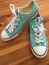Converse All Stars Size 8 Women's 10 NEW NWOB Low Tops TEAL Chuck Taylor shoes