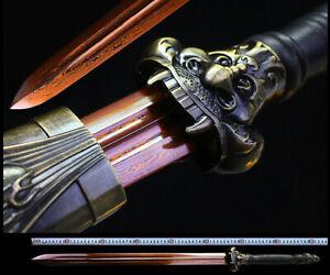High Quality Chinese KungFu Jian Sword Sharp Damascus Steel Blade Dragon Sword